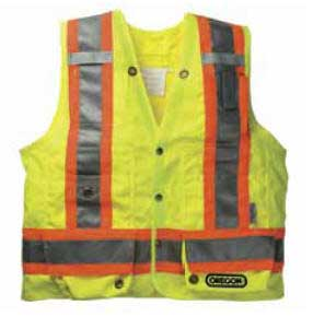 OREGON 538466XXL SURVEYORS SAFETY VEST - XXL-LARGE