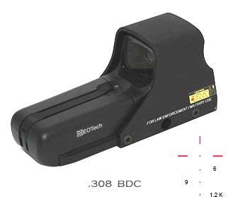 EOTECH 552.XR308 M552.XR308 MIL. AA BDC RET .308