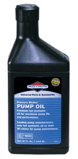BRIGGS AND STRATTON 6033 HIGH ENDURANCE PUMP OIL, 15 OZ SYNTHETIC PUMP OIL