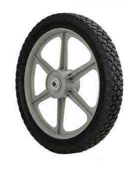 """Oregon 72-024 14 X 175 Spoke Plastic Wheel .500 Id 2.4"""" L Hub"""