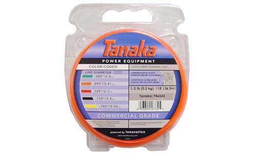 """TANAKA 746560 ORANGE TRIMMER LINE, .095"""", 1/2LB DONUT, 143 FT"""