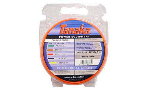 "TANAKA 746565 ORANGE TRIMMER LINE, .095"", 1 LB DONUT, 285 FT"