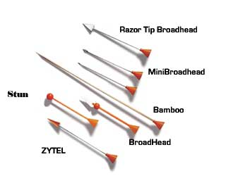COLD STEEL B625BR RAZOR TIP BROAD HEAD DART - 40PK