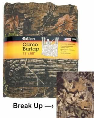 "ALLEN CASES ALLEN2563 MOBU 54""X12 FT BURLAP CAMO FABRIC"