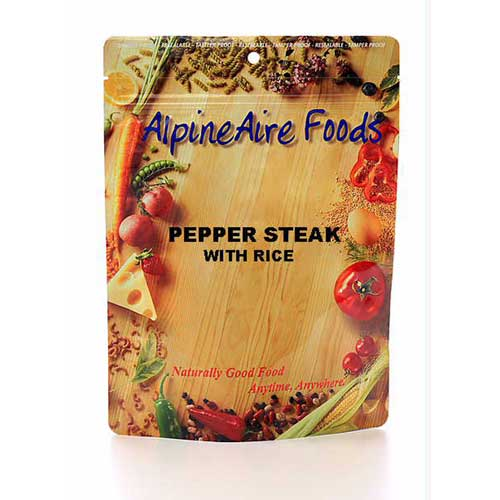 Alpine Aire Foods Alpine Aire Foods10402 PepperSteak w/Rice Serves2