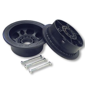 "AZUSA AZ1049 5"" AZUSALITE WHEEL, 3.5"" WIDE FOR 1-3/8"" OD BALL BEARINGS, 2 HALVES WITH NUTS & BOLTS ONLY"