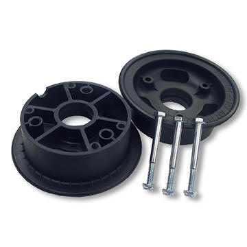 "AZUSA AZ1050 4"" AZUSALITE WHEEL, 3"" WIDE FOR 1-3/8"" OD BALL BEARINGS, 2 HALVES WITH NUTS & BOLTS ONLY"