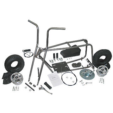 "AZUSA AZ3540 MINI BIKE KIT WITH 5"" ALUMINUM WHEELS"