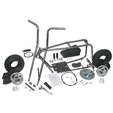 "Azusa AZ3540 Mini Bike Kit With 5"" Aluminum Wheels"