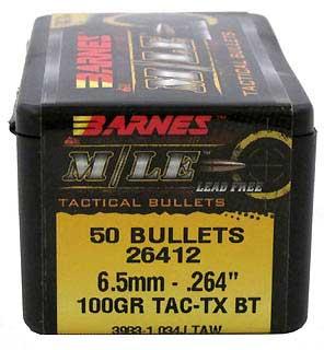 BARNES BULLETS BARNES26412 6.5MM 264 100GR TACTX BT (PER 50)