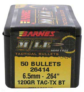 BARNES BULLETS BARNES26414 6.5MM 264 120GR TACTX BT (PER 50)
