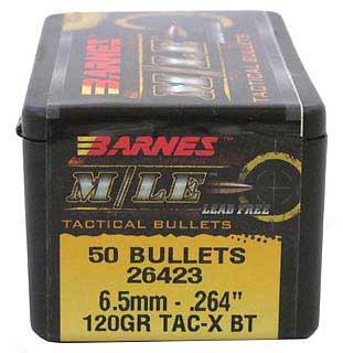 BARNES BULLETS BARNES26423 6.5MM .264 120GR TSX BT (PER 50)