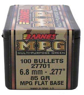 BARNES BULLETS BARNES27701 6.8MM .277 85GR MPG FB (PER 100)