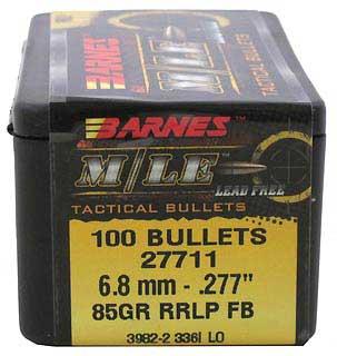 BARNES BULLETS BARNES27711 6.8MM .277 85GR RRLP FB (PER 100)