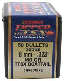 BARNES BULLETS BARNES32362 8MM .323 160GR TTSX BT (PER 50)