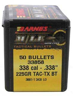 BARNES BULLETS BARNES33858 338 .338 225GR TAC-TX BT (PER 50)