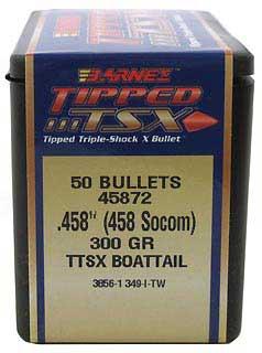 BARNES BULLETS BARNES45872 458 SOCOM 300GR TTSX BT (PER 50)