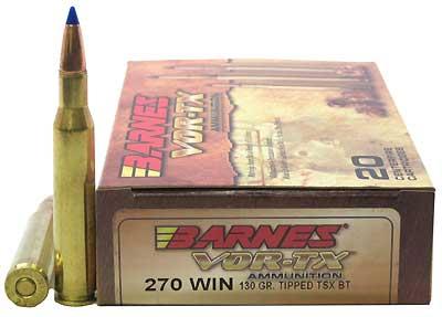 BARNES BULLETS BARNESBB270W1 VOR-TX 270 WIN TTSX-BT 130GR /20