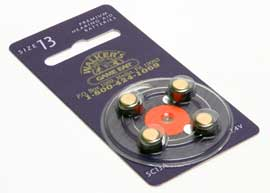WALKERS GAME EAR BAT013 AIR CELL BATTERIES, BTE ONLY(4PK)