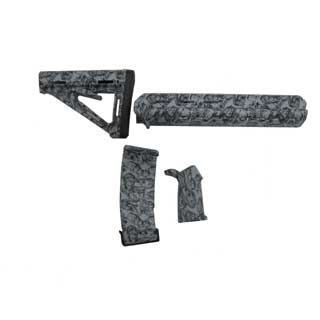 Black Dawn Black Dawn401-MZ Zombie Mid-length Furniture Kit - Gray