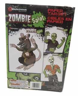 Beeman Beeman2095Z Zombie Style Paper Targets 3 Styles 2ea