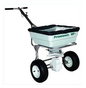 PRIZELAWN BF1SS-B Stainless Steel Bigfoot Spreader with Black Hopper