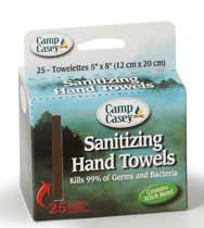 BIRCHWOOD CASEY BIRCHWOOD32425 CAMP CASEY SANITIZE HAND TWL 25PK