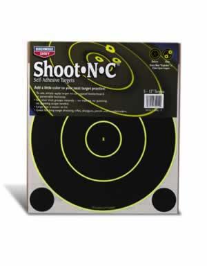 """BIRCHWOOD CASEY BIRCHWOOD34022 SHOOT N C 12"""" RND TARGET 12 SHEET"""
