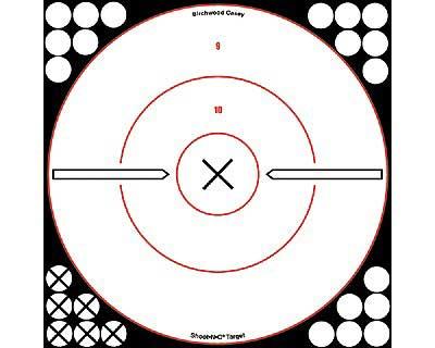 """Birchwood Casey Birchwood Casey34019 Shoot-N-C Wht/Blk 12"""" Bulls Eye"""