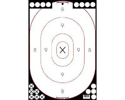 "Birchwood Casey Birchwood Casey34615 Shoot-N-C Wht/Blk 12"" x18"" Sil5Pck"