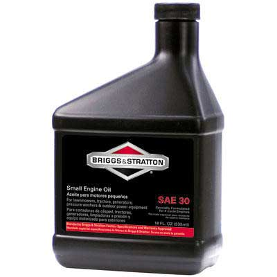 Briggs And Stratton 100005 Lawn Mower Oil - 4 Cycle 30W (18 Fl Oz)
