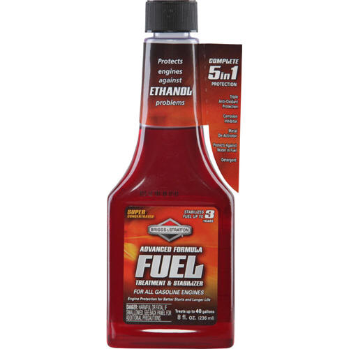 BRIGGS AND STRATTON 100118 ADVANCED FORMULA FUEL TREATMENT, 8 OZ