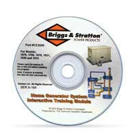 BRIGGS AND STRATTON CE3095 PORTABLE GENERATOR INSTRUCTORS REFERENCE CD ROM