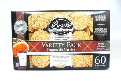 BRADLEY BT5FV60 5 Flavor Variety Bisqs (60 Pack)