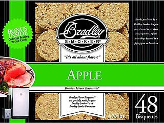 BRADLEY BTAP48 Apple Bisquettes (48 Pack)