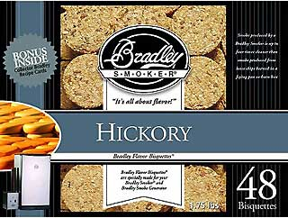 BRADLEY BTHC48 Hickory Bisquettes (48 Pack)