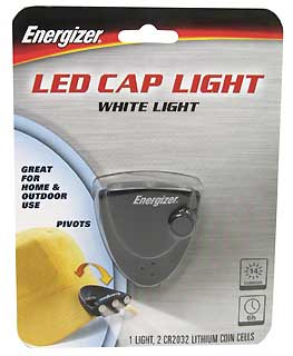 ENERGIZER CAPW2BBP 3-LED CAP LIGHT - 14 LUMENS