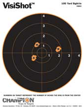 """CHAMPION TRAPS AND TARGETS CHAMPIONTRAPS45802 VISISHOT 8"""" TGT 100YD SITEIN/10/P"""