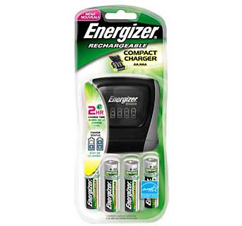 ENERGIZER CHDCWB-4 CHARGER FOR AA/AAA, INCLUDES 4 AA