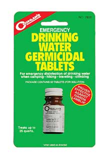 COGHLANS COGHLANS7620 DRINKING WATER TABLETS