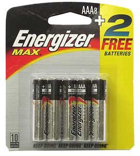 ENERGIZER E92BP-8F2 PREMIUM MAX AAA (PER 8+2)