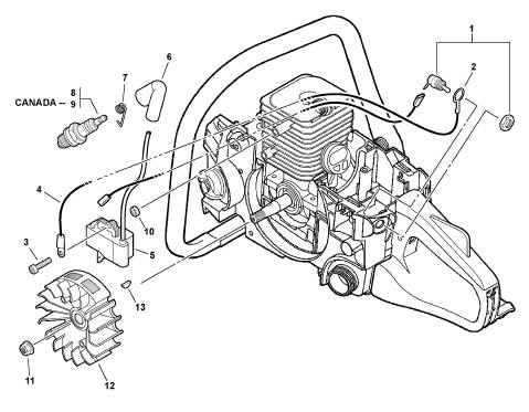 Stihl 310 Parts Diagram
