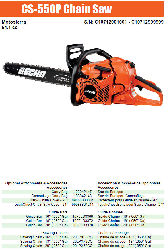 Chainsaw Case Outdoor Power Equipment Parts Professional ECHO ToughChest 24 in