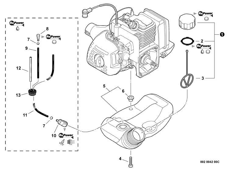 echo trimmer fuel line diagram