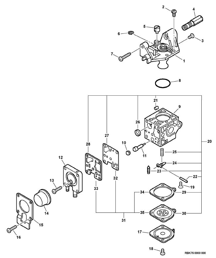 Pisviwkjl Sl moreover Echo Srm S also Carb as well Echo Pe S S in addition Fs Manual Phpapp Thumbnail. on zama rb carburetor diagram