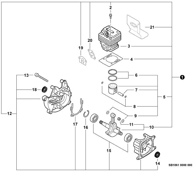 wisconsin robin engine parts diagram