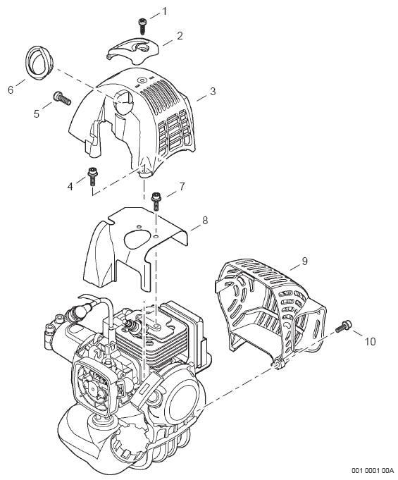 Echo Srm 266t Trimmer Parts Diagram Sn T42411001001