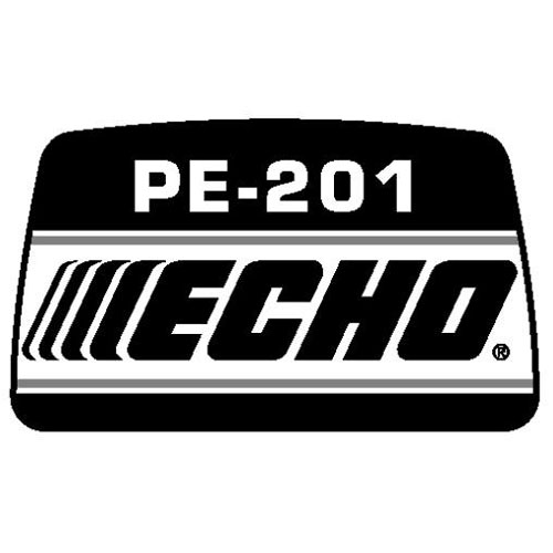 ECHO X503001400 MODEL LABEL - PE-201