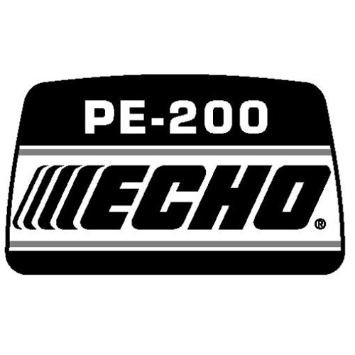 ECHO X543000200 MODEL LABEL - PE-200