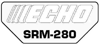 ECHO X547000800 MODEL LABEL - SRM-280